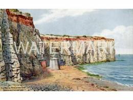 BIRCHINGTON ON SEA THE BEACH BERESFORD GAP RARE ART POSTCARD A.R. QUINTON 2544 - Quinton, AR
