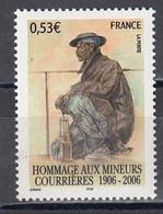 France 2006 - Hommage Aux Mineurs Victimes De La Catastrophe De Courrieres, YT 3880, Neuf** - Nuovi