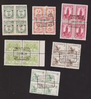 Lote 1937 Bloques De 4 Usados - 1931-50 Usados