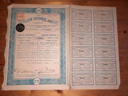 1 ACTION -  PETROLEUM REVENUES COMPANY (titre 25 Actions) 1914 - Petrolio