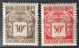 OCÉANIE 1948 - MLH - YT 19, 20 - Chiffre Taxe - Neufs