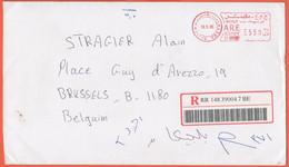 EGITTO - EGYPTE - Egypt - 2005 - 550 EMA, Red Cancel - Registered - Medium Envelope - Viaggiata Da Cairo Per Bruxelles, - Covers & Documents