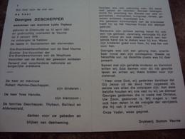 Doodsprentje/Bidprentje Georges DESCHEPPER(Wedr L.Thybaut)Diksmuide 1903-1978 Veurne Ere-Brandweerbevelhebber Veurne.... - Religione & Esoterismo