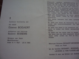Doodsprentje/Bidprentje Etienne BOGAERT(Echtg S.BESSEMS) Aalst 1927-1985   Schepen Aalst / Bedrijfsrevisor - Religione & Esoterismo