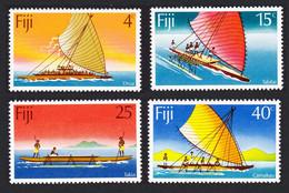 Canoes 4v Fiji 1977 MNH SG#545-548 SC#380-383 - Schiffe
