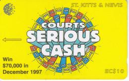 191 CSKA TARJETA DE ST. KITTS & NEVIS DEL AÑO 1997 - COURTS SERIOUS CASH - St. Kitts & Nevis