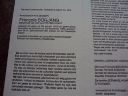 Doodsprentje/Bidprentje François BORJANS (Echtg V.HUART) Laken 1913-1988  Wetteren  Lic. Handels-en Consulaire Wetensch. - Religione & Esoterismo