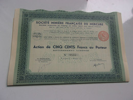 MINIERE FRANCAISE DU MERCURE (jemmapes ALGERIE)1941 - Non Classificati