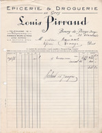 BOURG DE PEAGE LOUIS PIRRAUD EPICERIE DROGUERIE FACTURE ET TRAITE ANNEE 1926 - Unclassified