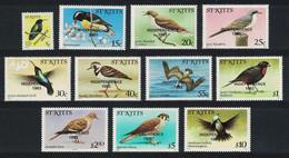Birds Optd 'INDEPENDENCE' Imprint 11v St. Kitts 1983 Mixed SG#118B-128B - Búhos, Lechuza