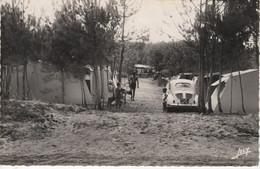 """N°SAINT HILAIRE DE RIEZ - Camping De La Pomme De Pin """" Le Petit Bec"""" Voiture 4cv Renault Immatriculée 75 - Saint Hilaire De Riez"""