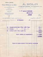 PIQUE PIERRE PAR GRENOBLE MOLIN TOLE MINCE ET EN BOIS CARDEUSES MECANIQUES TRAITE ET FACTURE ANNEE 1926 - Unclassified