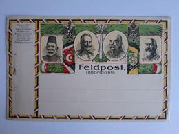 CPA -  Feldpostkarte, Taboriposta, Kaiser Wilhelm, Kaiser Franz Josef, Bei De Turquie, Roi D'Italie, Vierge, Non Voyagée - Weltkrieg 1914-18