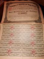 1 ACTION - FONDERIES Et ATELIERS De NORD PARIS - Part Bénéficiare Au Porteur -1925 - Industrie