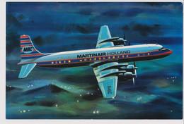 Vintage Rppc KLM Martinair Holland Martin's Air Charter MAC Douglas Dc-7c Aircraft - 1946-....: Modern Era