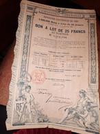 EXPOSITION UNIVERSELLE De 1889 -  Bon à Lots De 25 Francs Au Porteur - - Non Classificati