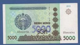 UZBEKISTAN - P.83 – 5.000 So'm 2013 - XF - Central Fold    Prefix UR 6818781 - Uzbekistan