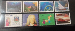 Portugal - 8 Selos Usados, Década 90 (Fauna, Animal, Fish, Ship) - Used Stamps