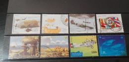 Portugal - 8 Selos Usados, Década 90 (Fauna, Animal, Fish, Plane) - Used Stamps