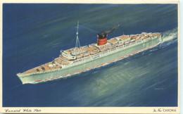 Cunard White Star - CARONIA  Tristan Da Cunha Cancel On Back Uncirculated - Steamers