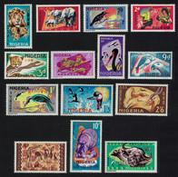 Lion Elephant Birds Hippo Giraffe Pound Values 14v Nigeria 1965 MNH SG#172-185 CV£59.- - Jirafas