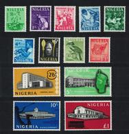 Flowers Hornbill Birds Buildings Agriculture Definitives 13v Nigeria 1961 MNH SG#89-101 MI#92-104 CV€25.- - Sin Clasificación