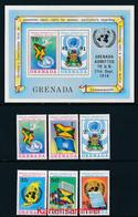 GRENADA Mi. Nr. 648-653, Block 41 Eintritt In Die UNO Am 17. September 1974 - MNH - Grenada (1974-...)