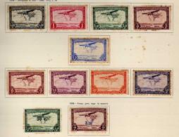 Congo Belge (1934-42) -  Poste Aerienne - Avions Paysages  -   Neufs* - MH - Luftpost: Ungebraucht