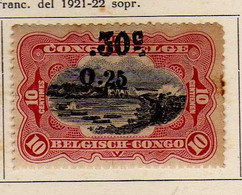 Congo Belge (1923) -  Surcharge Locale 0,25 -   Neufs* - MH - 1923-44: Ungebraucht