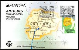 Europa 2020 - Andorre Espagnole - Anciennes Routes Postales - Antigues Rutes Postals FDC - 2020