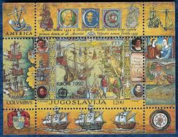 YUGOSLAVIA JUGOSLAWIEN 1992 EUROPA CEPT BLOCK MI. 41 MNH** - 1992