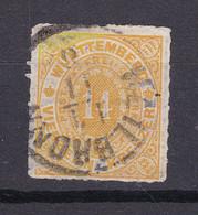 Wuerttemberg - 1869 - Michel Nr. 41 K1 - Gestempelt - 60 Euro - Wurttemberg