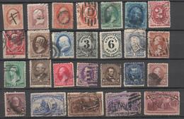 USA , Lot Mit Alten Gebrauchten Briefmarken - Used Stamps