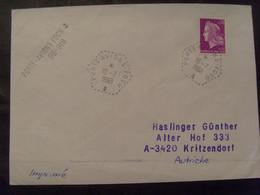 18756- Lettre > Autriche Postée à Bord Du Porte-avions Foch, Au Tarif Des Imprimés Pour L'étranger, Tarif Peu Courant - Poste Maritime