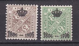 Wuerttemberg - 1906 - Dienstmarken - Michel Nr. 218/219 - Ungebr. - Wurttemberg