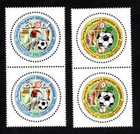 2002 - Tunisie - Coupe Du Monde De Foot-Ball Corée / Japon 2002 - Football- Paire De Timbres - Série Complète 2v.MNH** - Tunisie (1956-...)