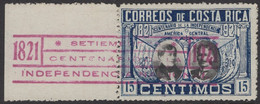 Costa Rica - 15 C - The 100th Anniversary Of Central American Independence - Mi D91 - 1921 - Costa Rica