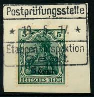 BES 1WK ETAPPE WEST Nr 2a Zentrisch Gestempelt Briefstück X7795E6 - Occupazione 1914 – 18