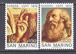SAN  MARINO  858-9    **    EUROPA - 1975