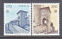 SAN  MARINO  922-3    **    EUROPA - 1978