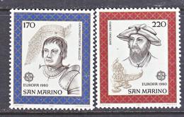 SAN  MARINO  985-6   **    EUROPA - 1980