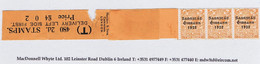 Ireland 1923 Harrison Saorstat Coils 2d Control Leader T Horizontal With Strip Of Three Mint - Ungebraucht