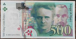 Billet De 500 Francs Pierre Et Marie Curie 1994 FRANCE S001241701 - 500 F 1994-2000 ''Pierre Et Marie Curie''