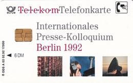 GERMANY - Earth Station, Internationales Presse-Kolloquium, Berlin 1992(A 02), Tirage 17000, 02/92, Used - Spazio