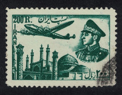 Shah And Lockheed Constellation Over Mosque 200r KEY VALUE 1952 Canc SG#998 - Aerei