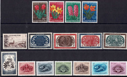 Luxembourg, Luxemburg 1955 Année Complête 5 Séries Neuf MNH** Val.cat.62€ - Full Years