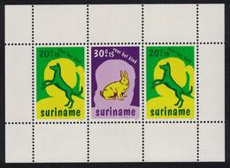 Dog Rabbit Child Welfare MS Suriname 1977 MNH SG#MS900 - Dogs