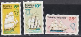 Tokelau, Scott #22-24, Mint Never Hinged, Ships, Issued 1970 - Tokelau