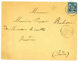 CHER ENV 1889 CHAROST T84 SUR SAGE + BOITE RURALE B = NON IDENTIFIEE - 1877-1920: Semi Modern Period