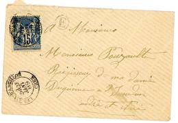 CHER ENV 1889 LES AIX D'ANCILLON T18 SUR SAGE + BOITE RURALE E = NON IDENTIFIEE - 1877-1920: Semi Modern Period